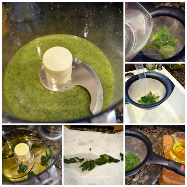 basil oil Collage
