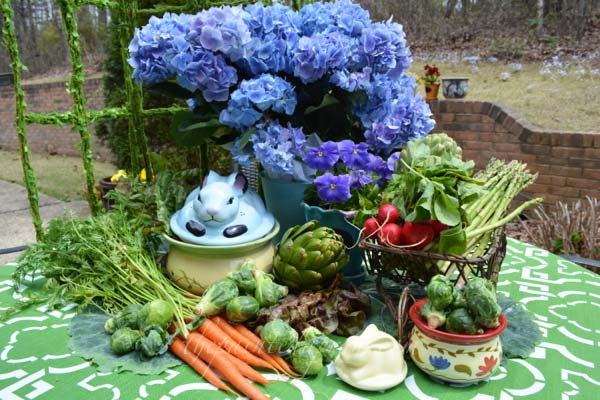 bunny garden buffet thepaintedapron.com