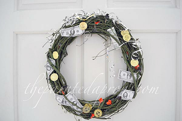 casino nite wreath thepaintedapron.com