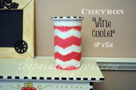 chevron wine cooler thepaintedapron.com