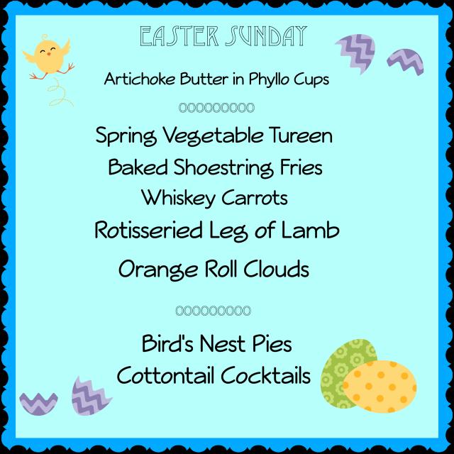 Easter menu 2 thepaintedapron.com