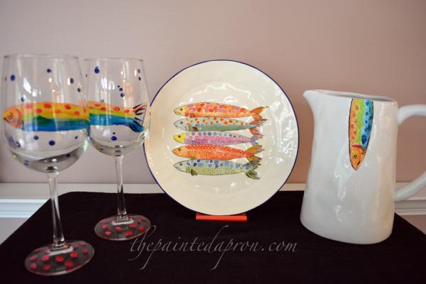 painted fish pieces thepaintedapron.com