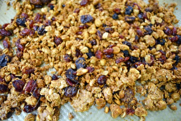 peanut butter and jelly granola thepaintedapron.com