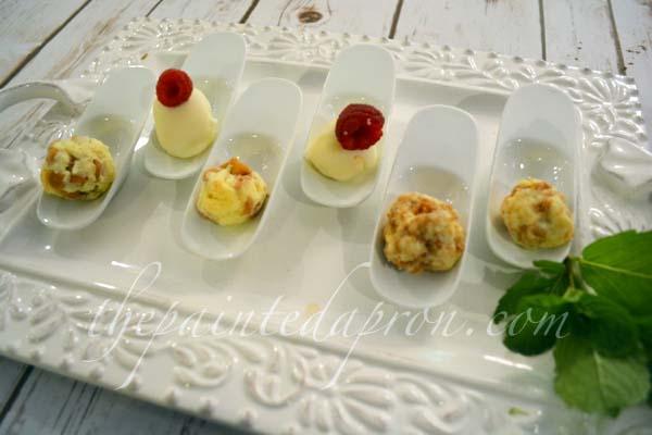 petite cheesecake boules 1 thepaintedapron.com