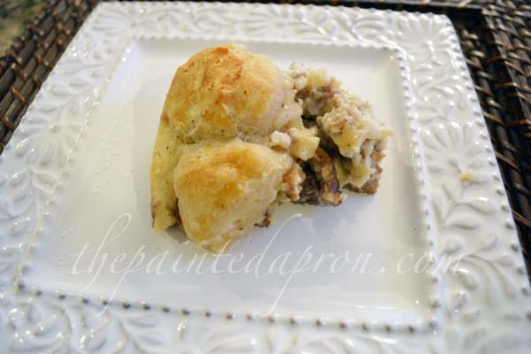 sausage and biscuits thepaintedapron.com