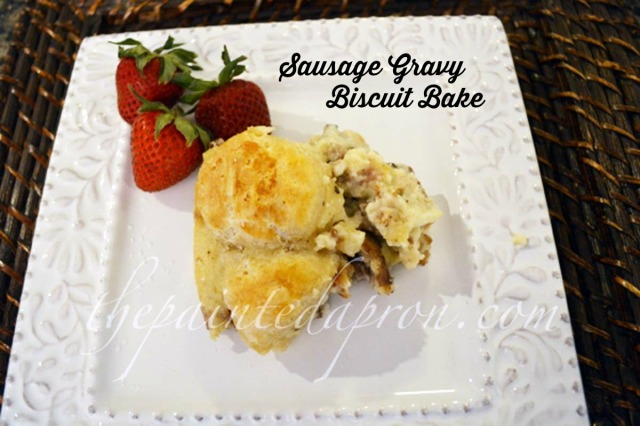 sausage gravy biscuit bake 2 thepaintedapron.com