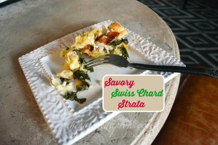 swiss chard strata with bacon and asiago thepaintedapron.com
