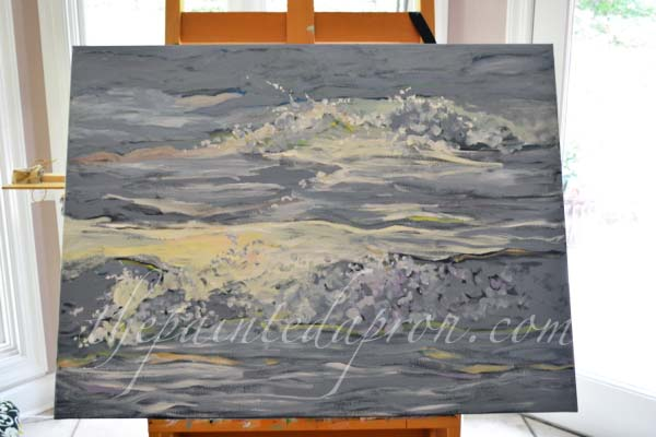 breaking waves 1 thepaintedapron.com