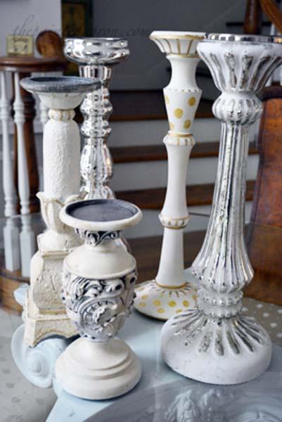 candlestick centerpiece group thepaintedapron.com
