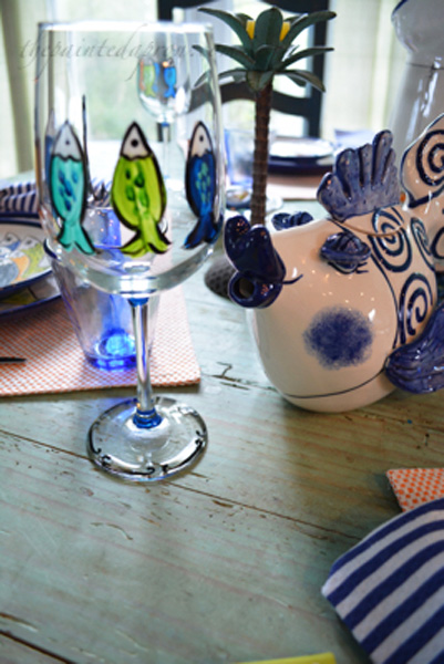 fish glass thepaintedapron.com