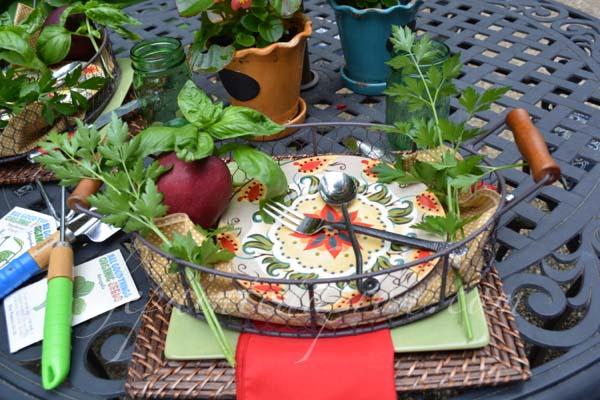 herb garden trays thepaintedapron.com