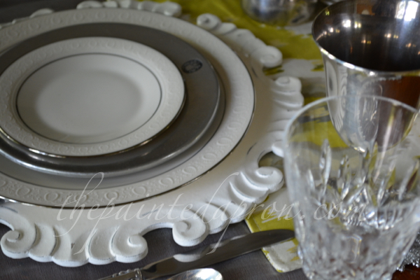 silver and cream plate stack thepaintedapron.com