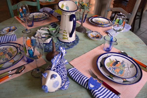 somethings fishy table 2 thepaintedapron.com