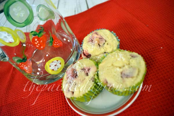 strawberry muffins 1 thepaintedapron.com