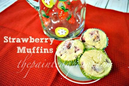 strawberry muffins 4 thepaintedapron.com