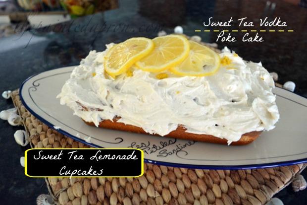 Sweet Tea Vodka poke cake thepainteapron.com