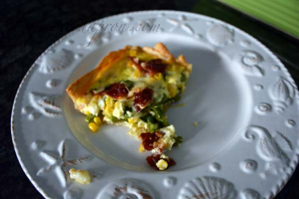 asparagus tart with bacon thepaintedapron.com
