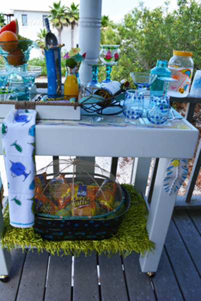 bar cart thepaintedapron.com