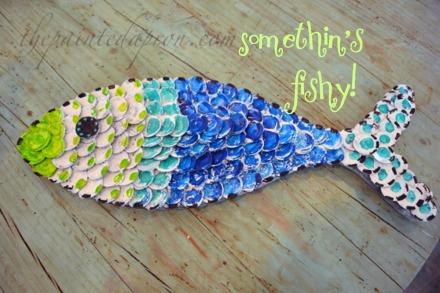 bottlecap fish thepaintedapron.com