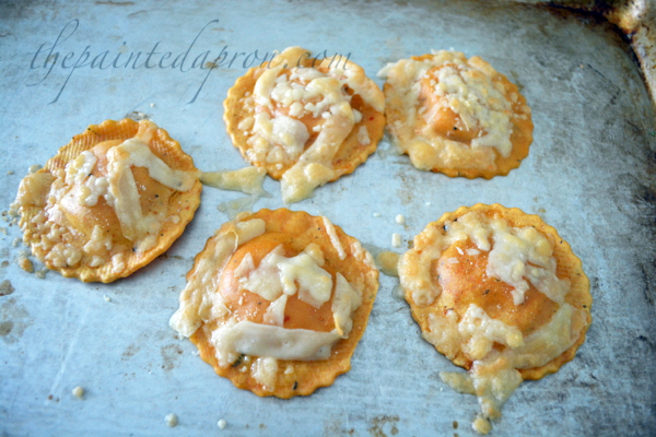 butternut squash with parmesan croutons thepaintedapron.com