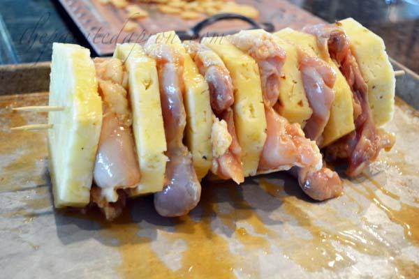 chicken and pineapple giant kebab thepaintedapron.com