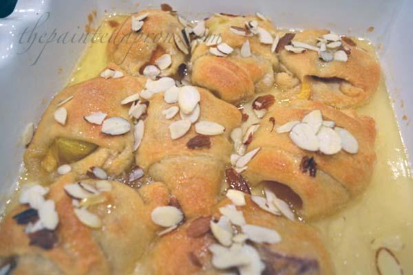 cresent roll peach danish thepaintedapron.com