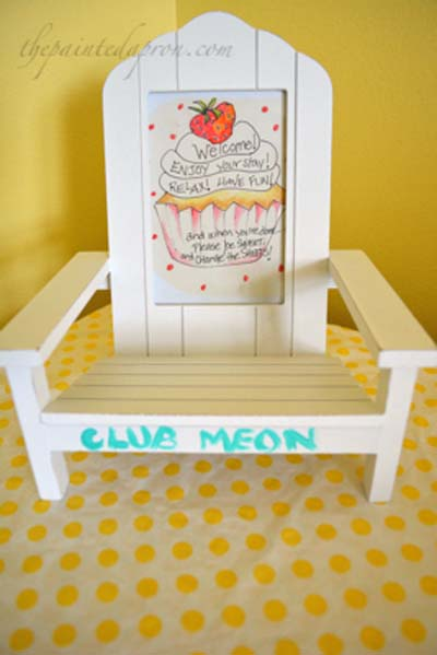 framed note for guest room thepaintedapron.com