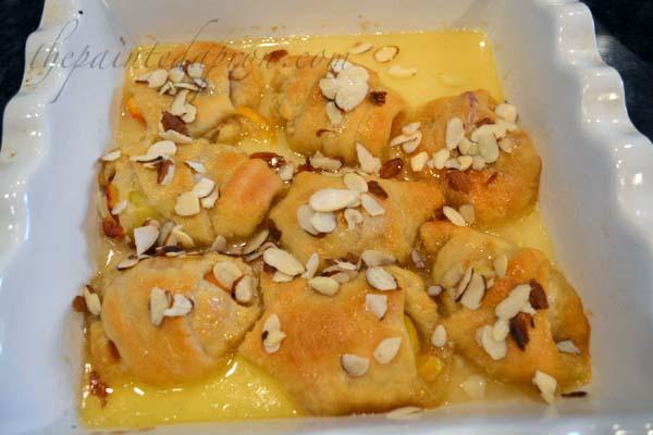 peach almond dumplings thepaintedapron.com