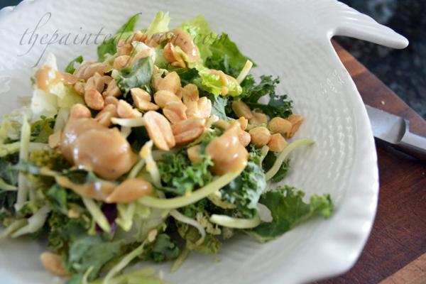power salad with peanut dressing thepaintedapron.com