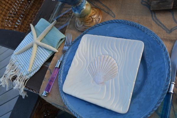 sea shell table 2 thepaintedapron.com