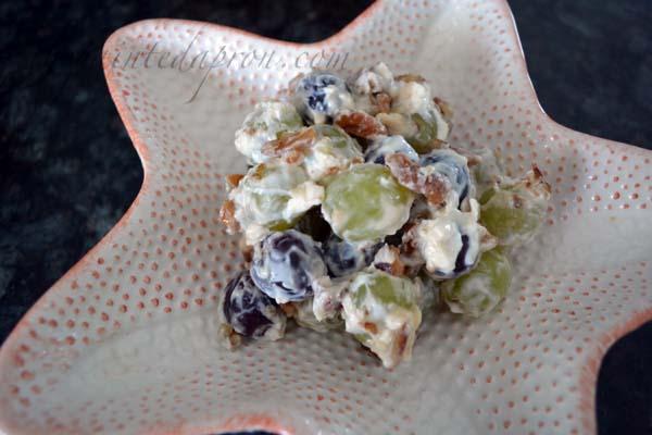 sweet grape and pecan salad thepaintedapron.com