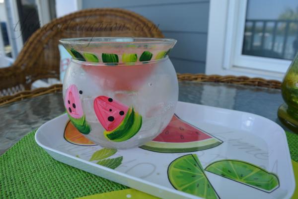 watermelon cooler thepaintedapron.com
