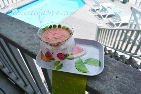 watermelon slushie thepaintedapron.com
