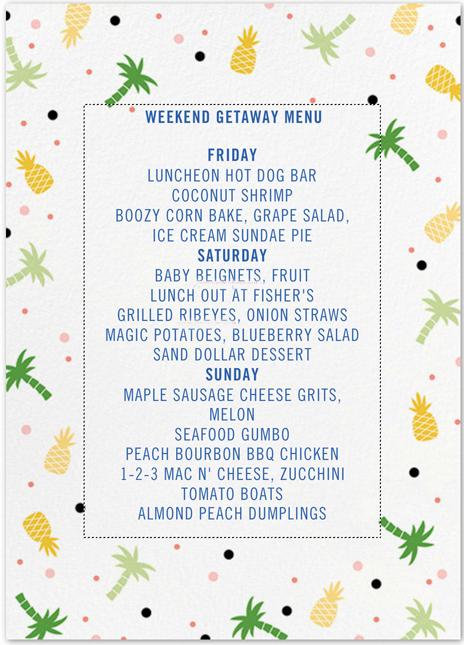 weekend menu thepaintedapron.com