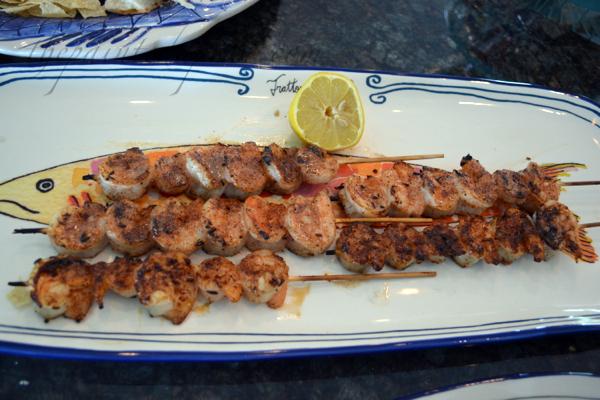 blackened lemon shrimp skewers thepaintedapron.com