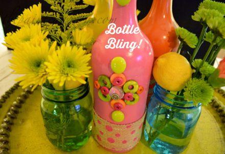 bling bottle grouping thepaintedapron.com