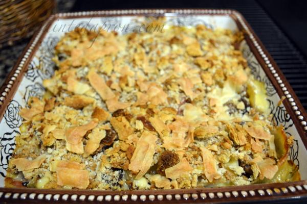 chicken cordon bleu stuffed shells thepaintedapron.com