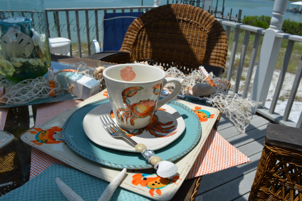 crab setting with shell fork thepaintedapron.com