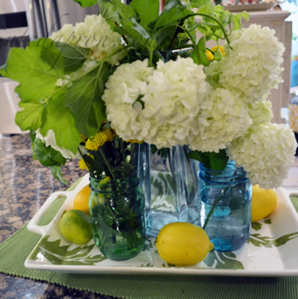 herbs and hydrangeas thepaintedapron.com