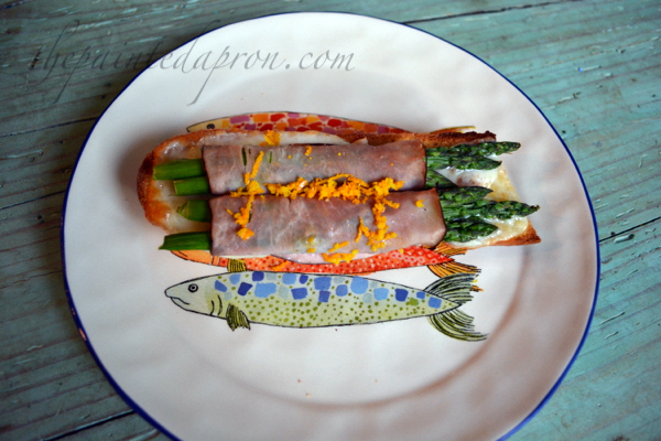 orange zest ham and asparagus sandwich thepaintedapron.com
