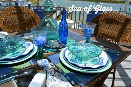 sea glass table 7 thepaintedapron.com