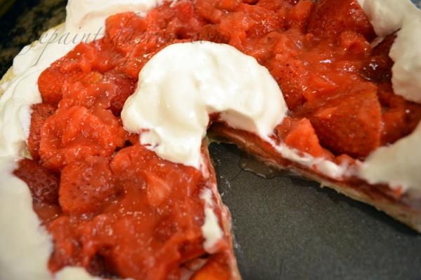 strawberries and cream puff pastry thepaintedapron.com