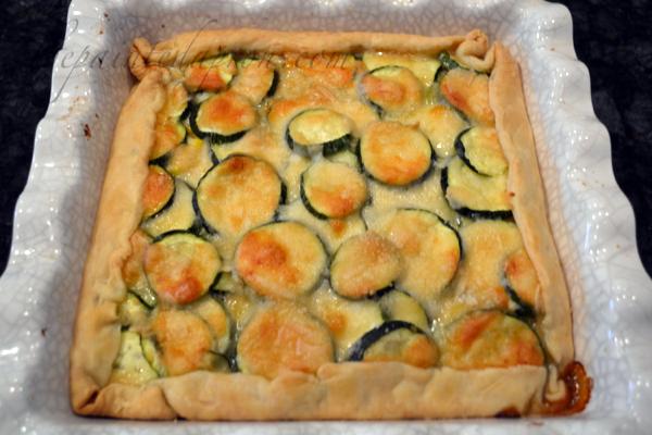 Zucchini & corn tart thepaintedapron.com