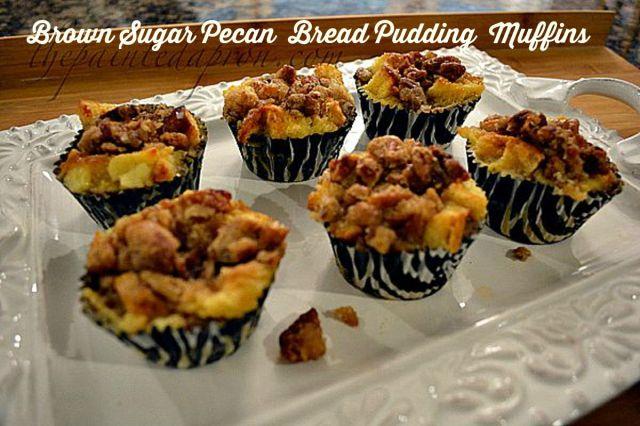 brown sugar pecan breakfast pudding muffins thepaintedapron.com