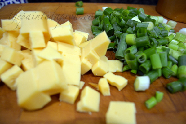 gouda cheese and green onions thepaintedapron.com