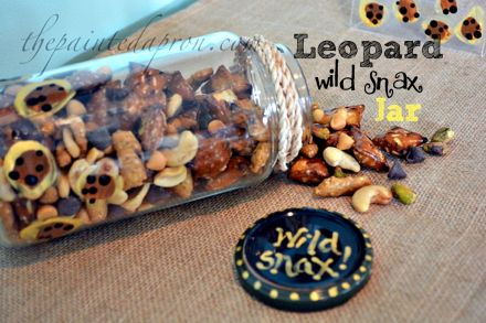 leopard print snack jar thepaintedapron.com