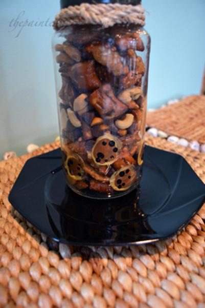 leopard snack jar thepaintedapron.com