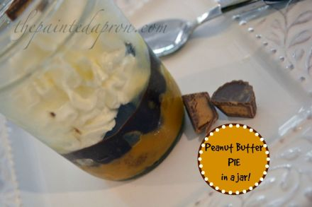peanut butter pie jar thepaintedapron.com
