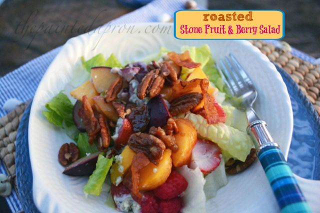 roasted fruit salad thepaintedapron.com