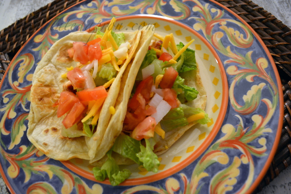 salsa chicken tacos thepaintedapron.com